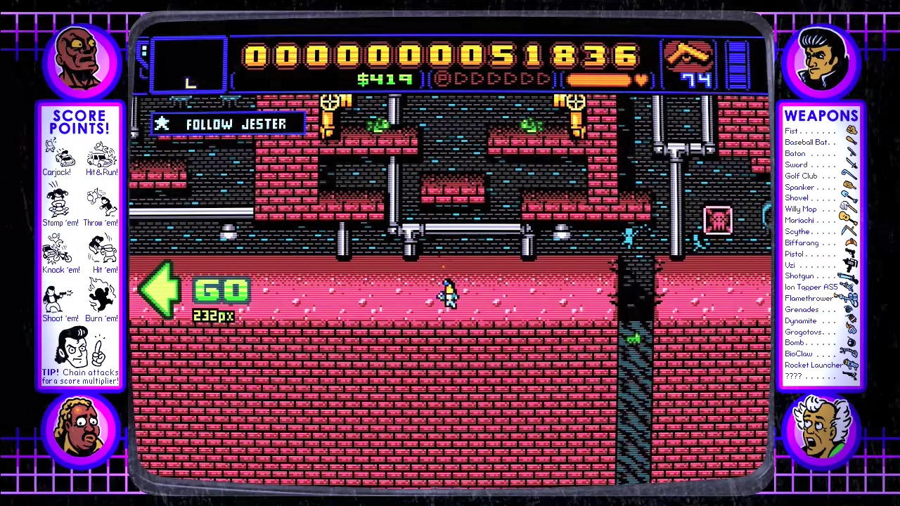 Retro City Rampage in game