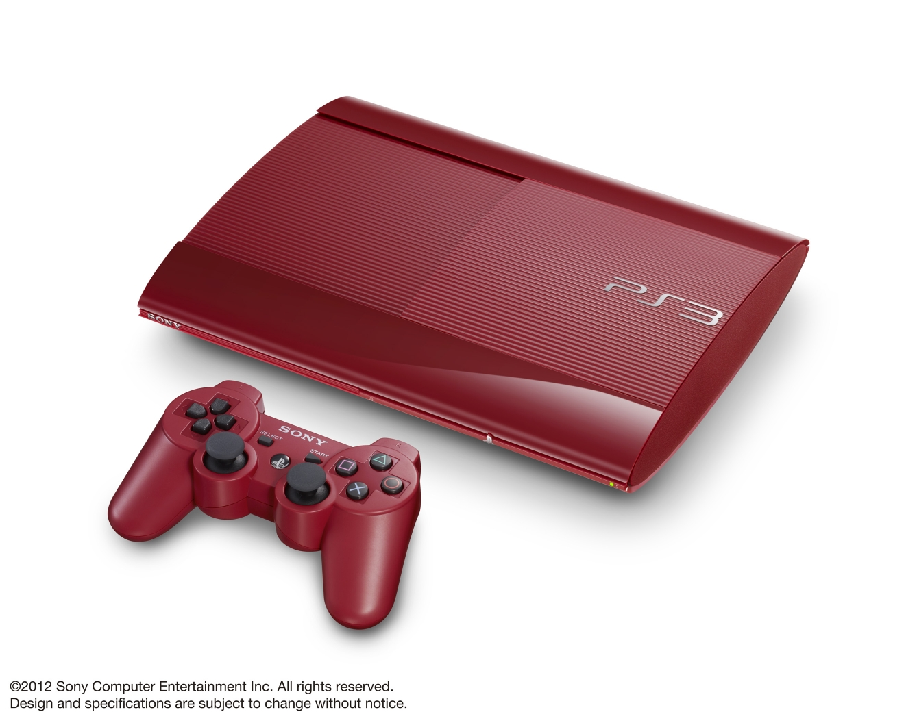 ps3 super slim Garnet Red