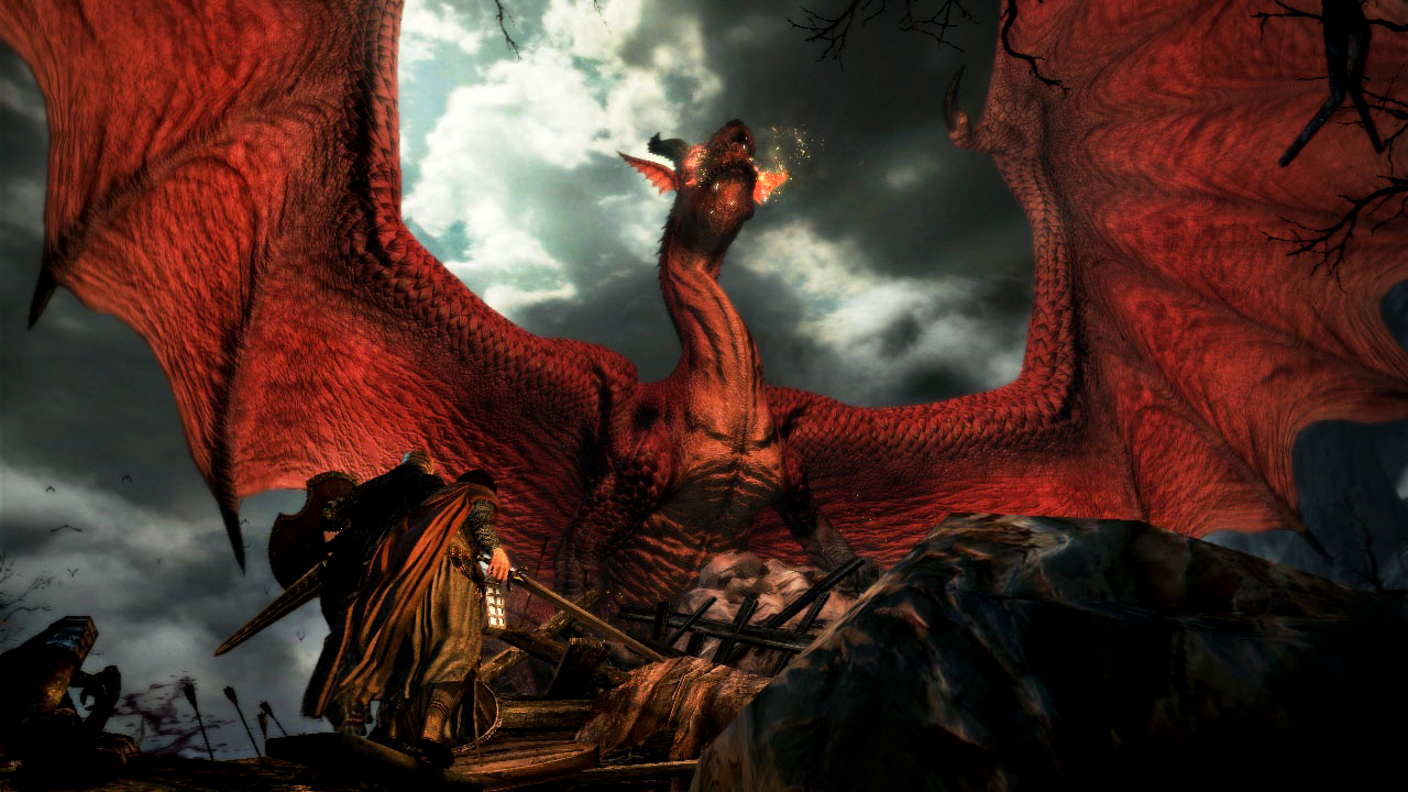 Dragons Dogma fighting the dragon