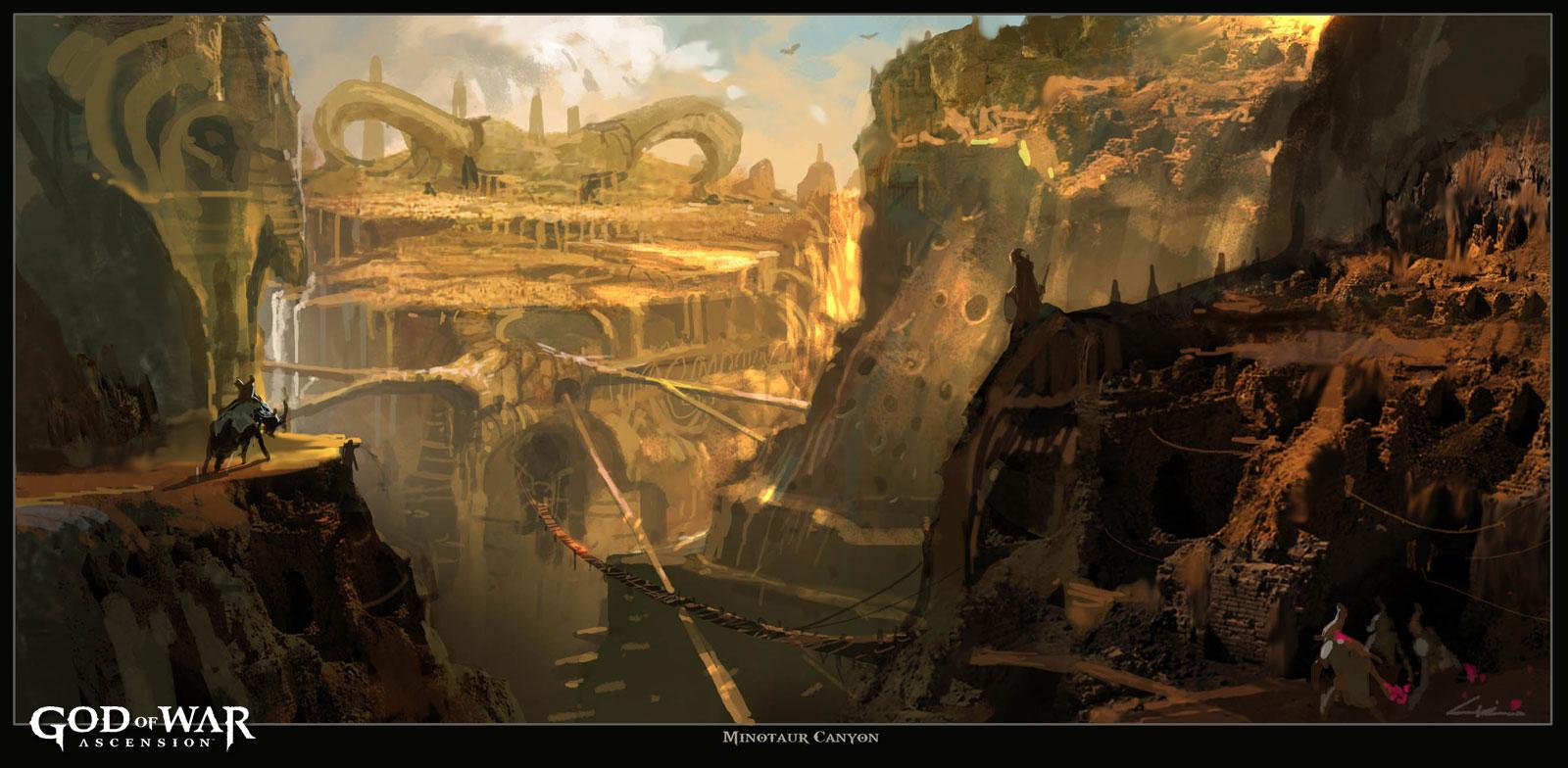 God of War Ascension artwork 02022013f minotaur canyon