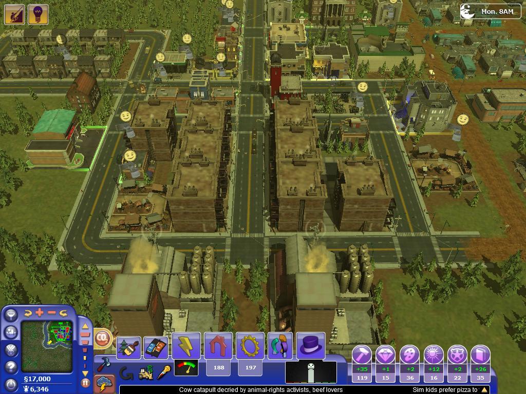 Variazione sul tema in SimCity Societies. Tanta grafica, contenuti alternativi ma non troppo successo. Fu l'unico capitolo della serie a non essere realizzato da Maxis