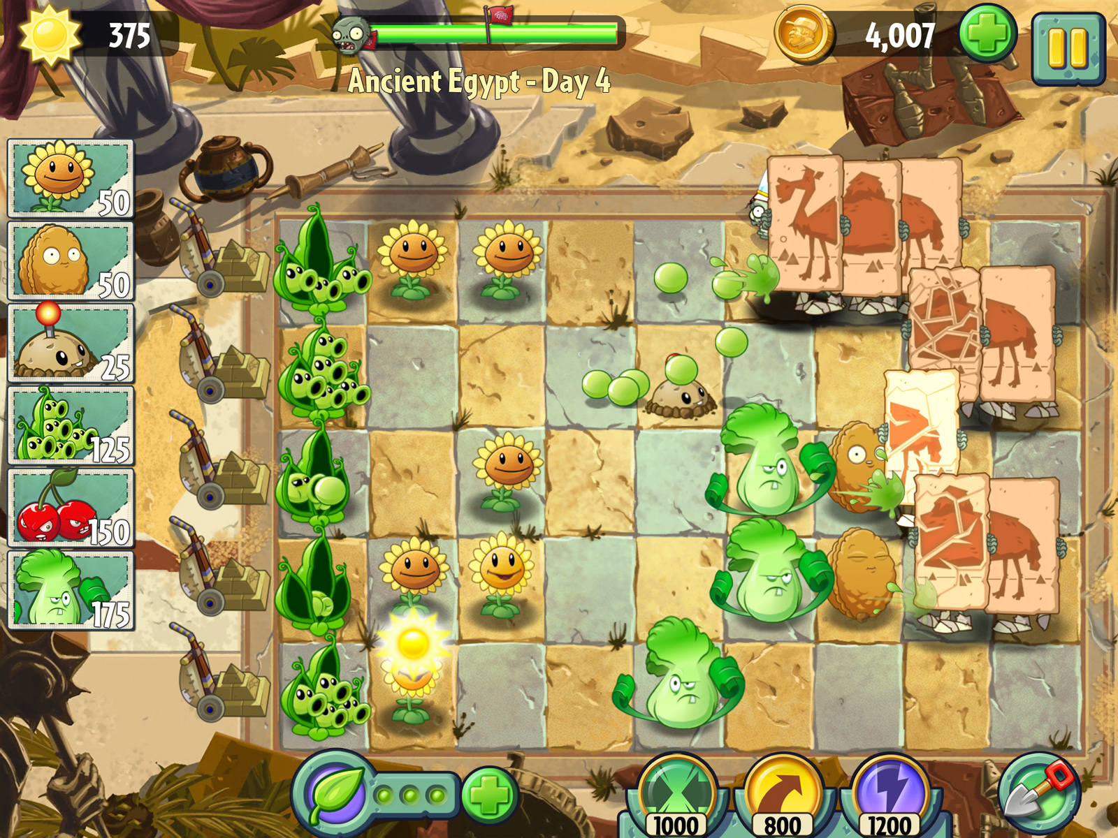 plants-vs-zombies-2-egypt-camels-peapods