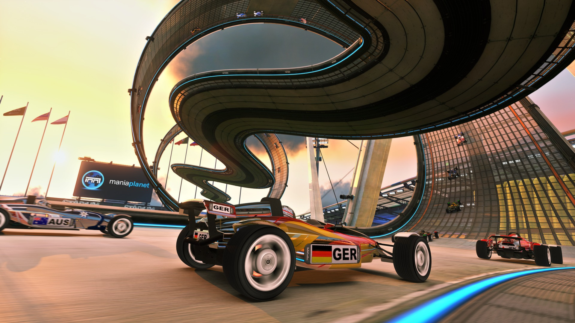 trackmania 2 stadium in game