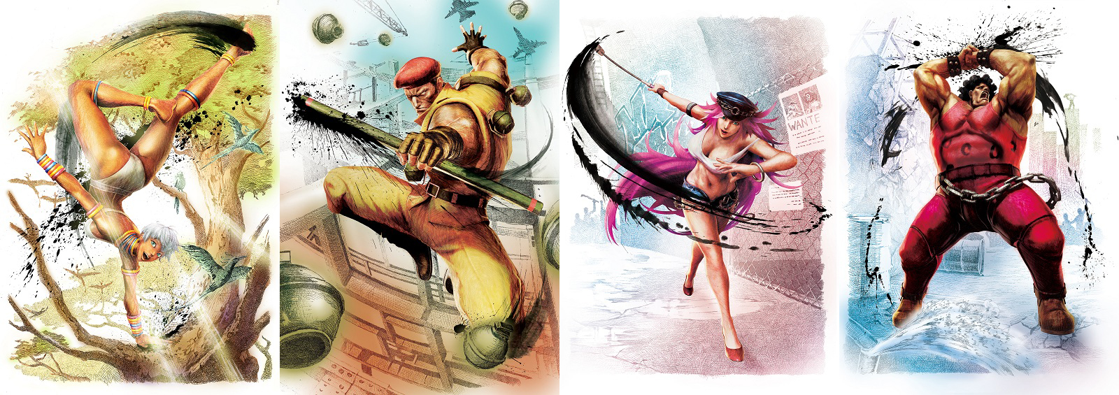 Street fighter IV elena-rolento-poison-hugo-official-art