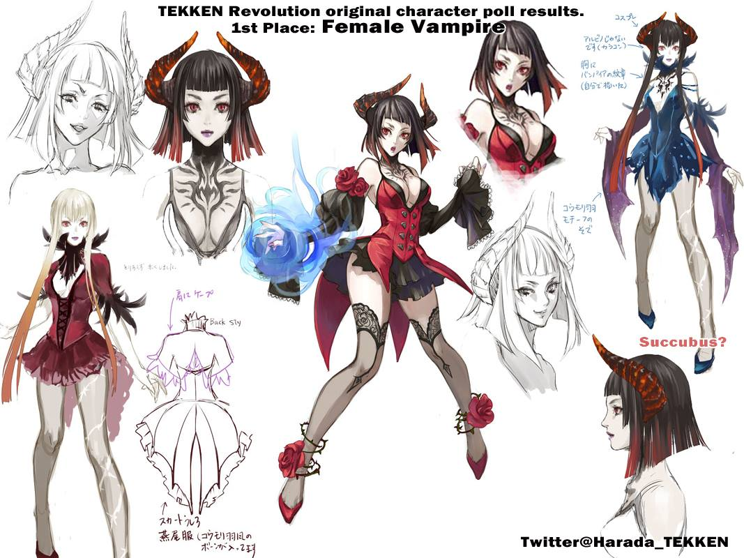 Tekken revolution-female-vampire-art