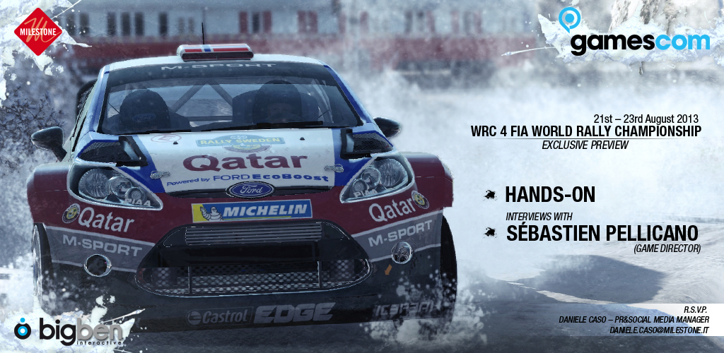 WRC4  - Gamescom2013 - Invito