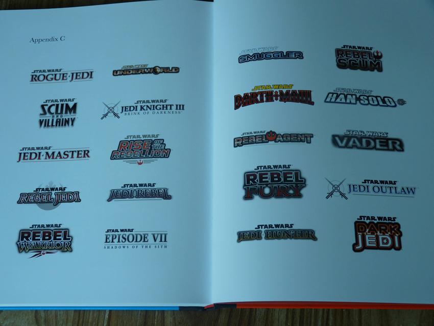 star-wars-games loghi dei giochi cancellati