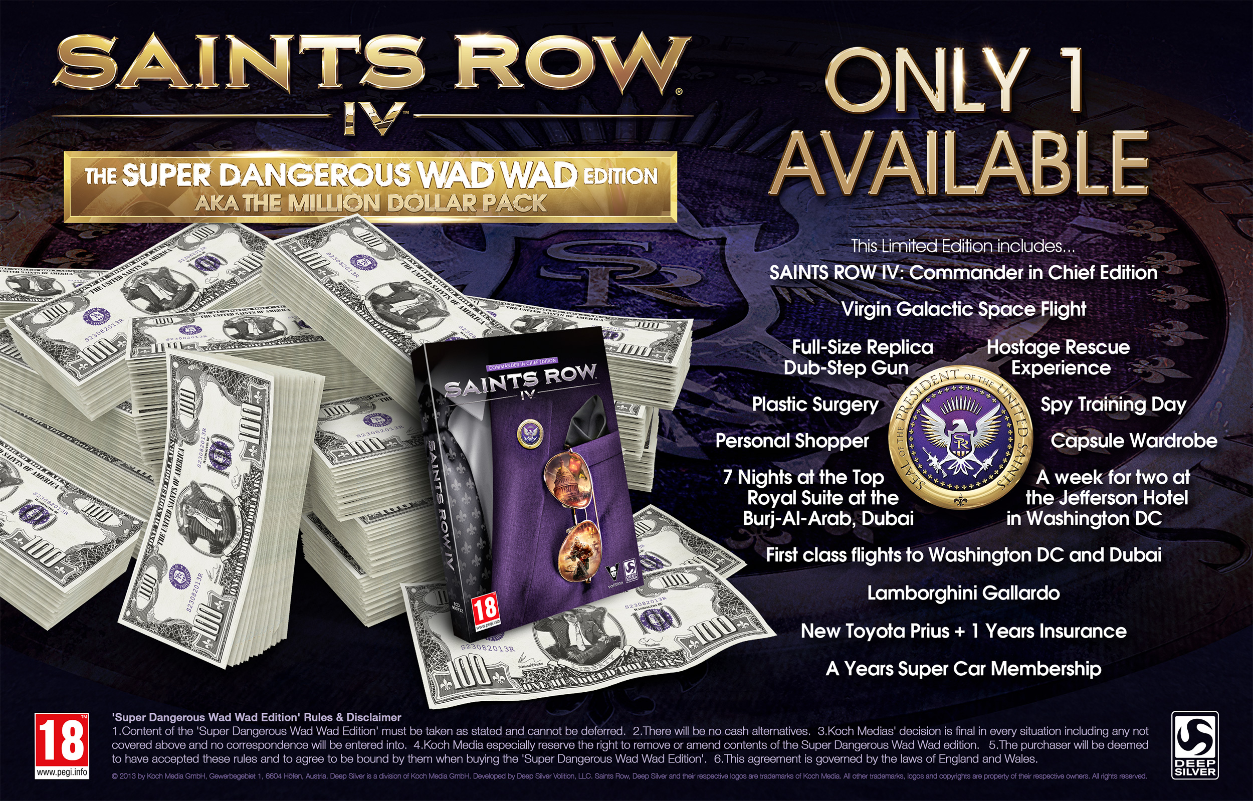saints row IV edizione un milione di dollari