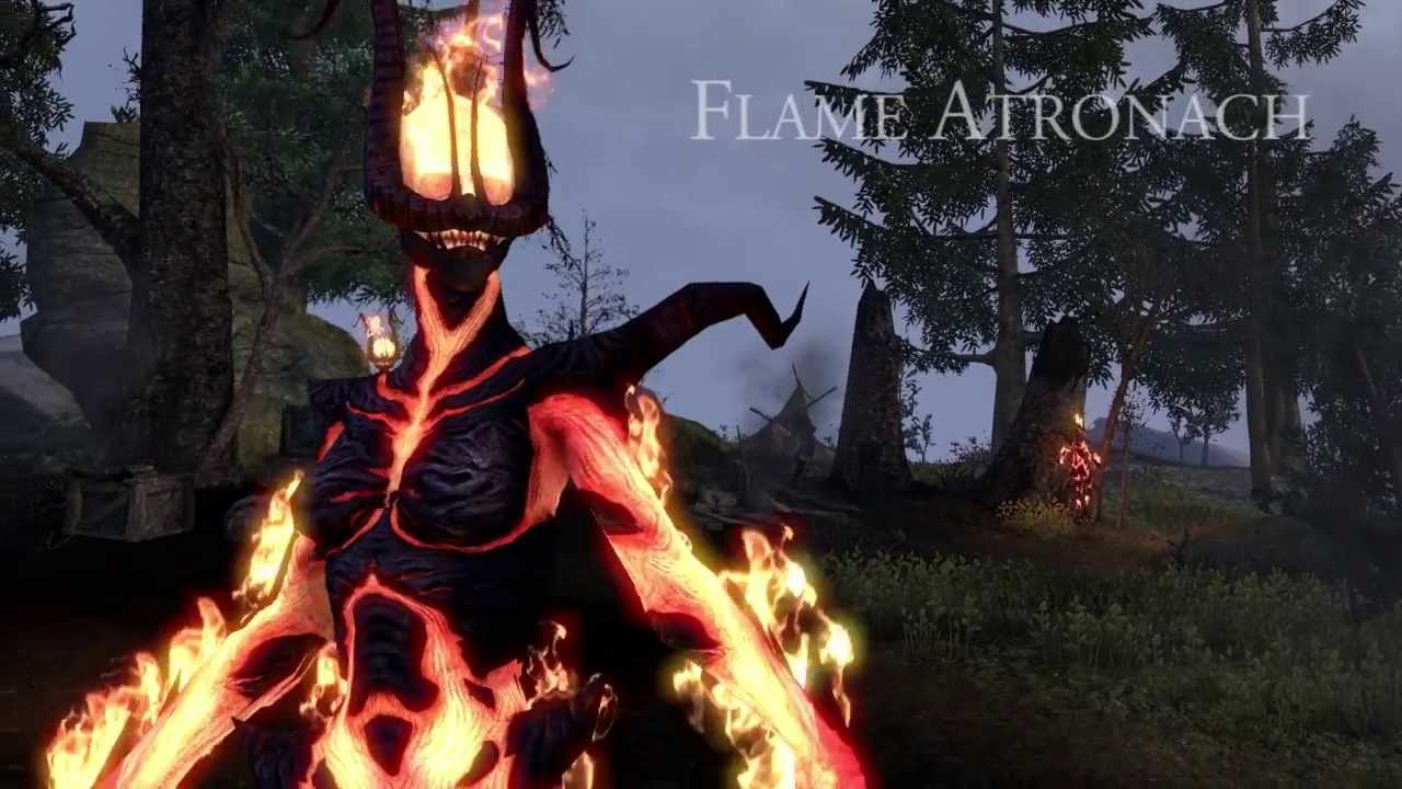 the elder scrolls online flame atronach trailer