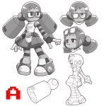 mighty no 9 concept robot 30092013