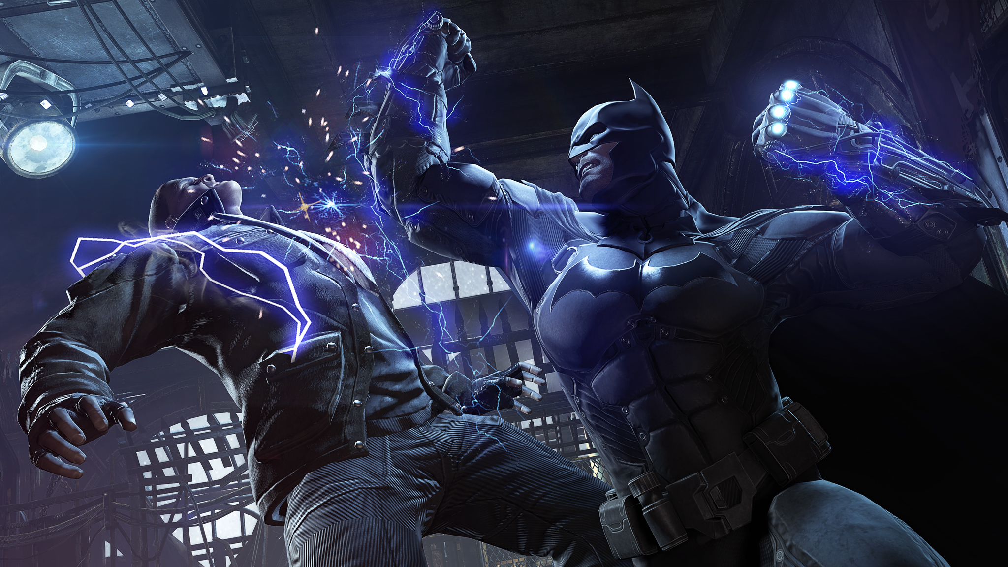 batman arkham origins-launch-shock-gloves-uppercut