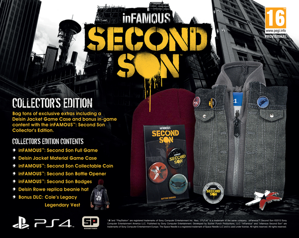 infamous second son collectors edition
