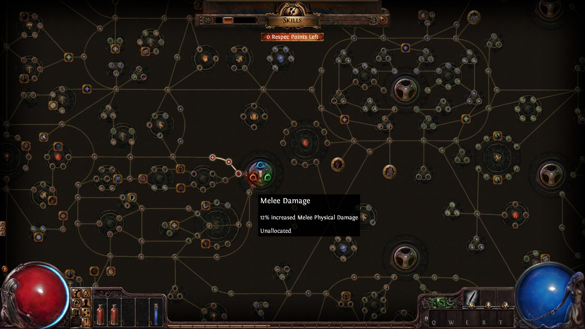 L'albero delle abilità di Path of Exile. Vi pare enorme? Bene, questa immagine riporta solo una parte delle abilità da poter assegnare al proprio personaggio