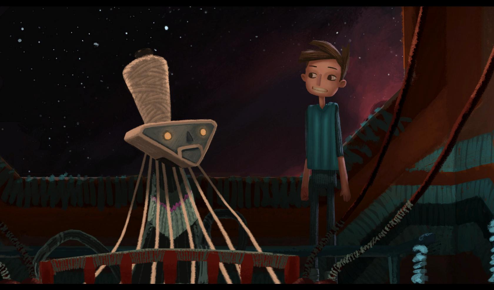 Broken Age in game 1001