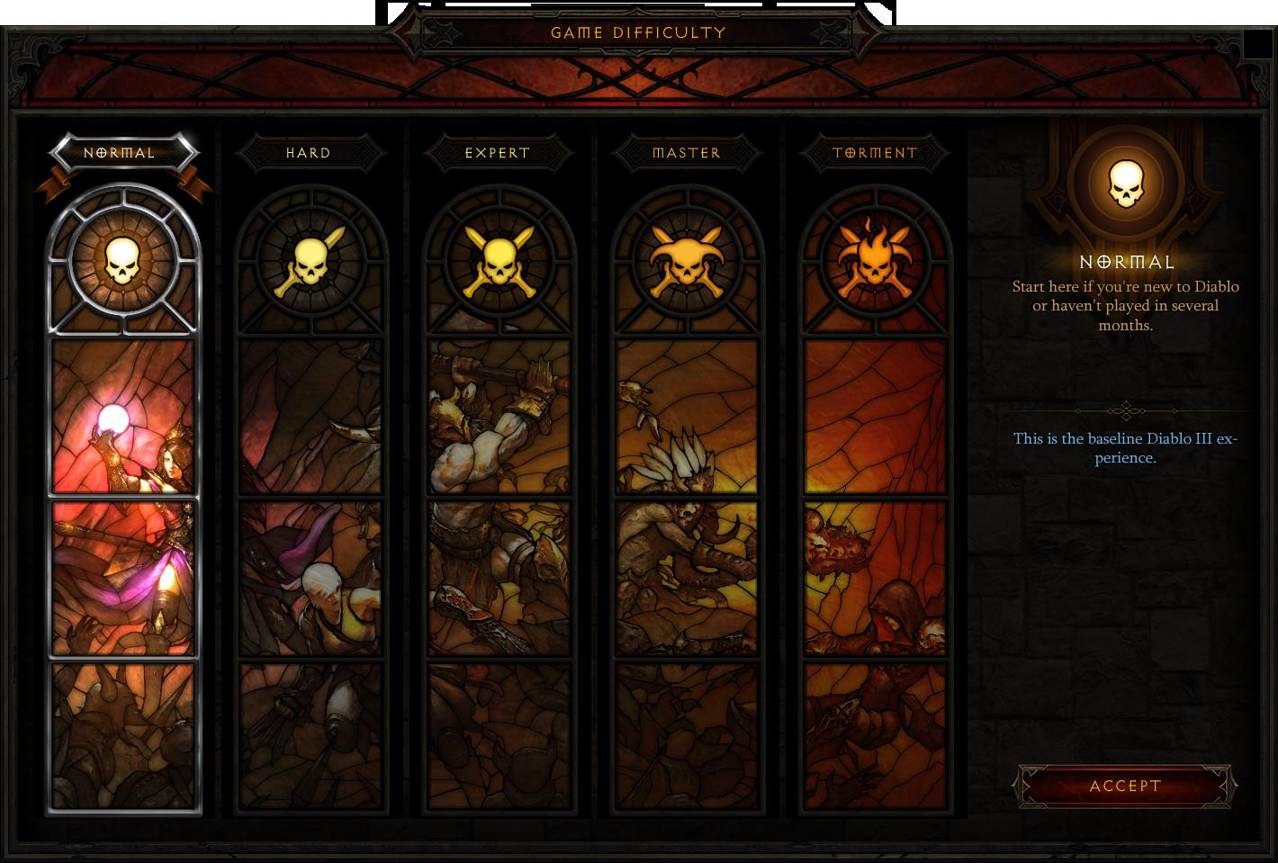 Diablo III reaper of souls difficoltà