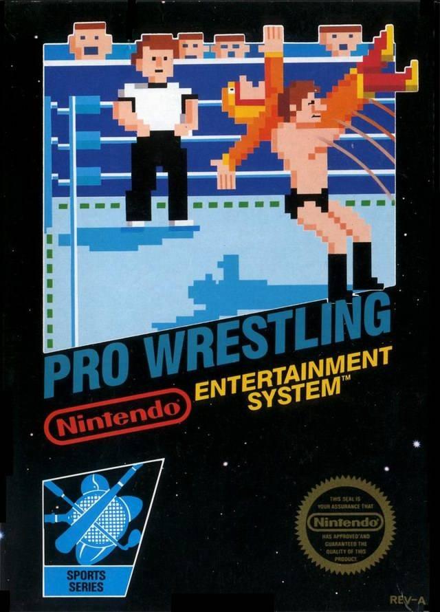 Pro Wrestling American NES Box Art