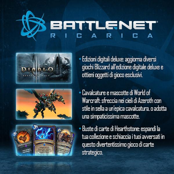 ricariche battle.net