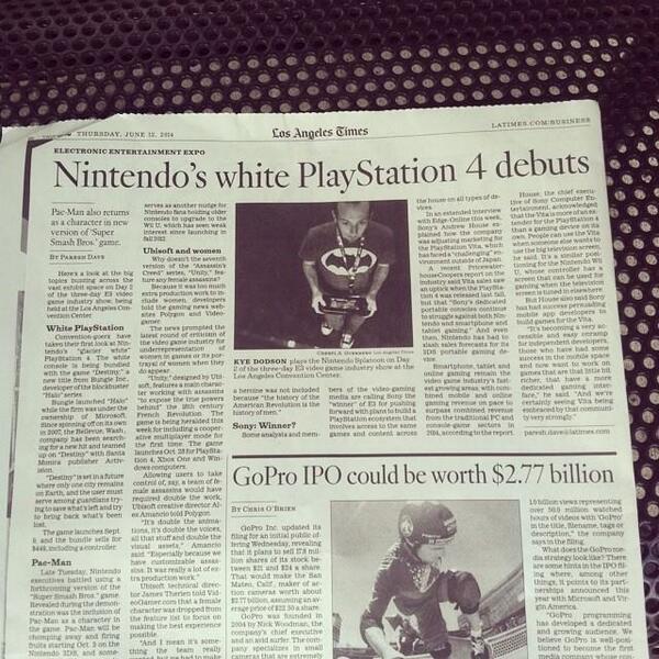 Los Angeles Times gaffe
