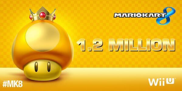Mario Kart 8 1,2 milioni di copie vendute