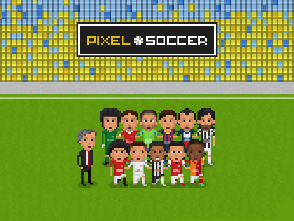 Pixel soccer header