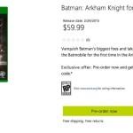 Batman: Arkham Knight, spunta la data d'uscita sullo store americano Microsoft