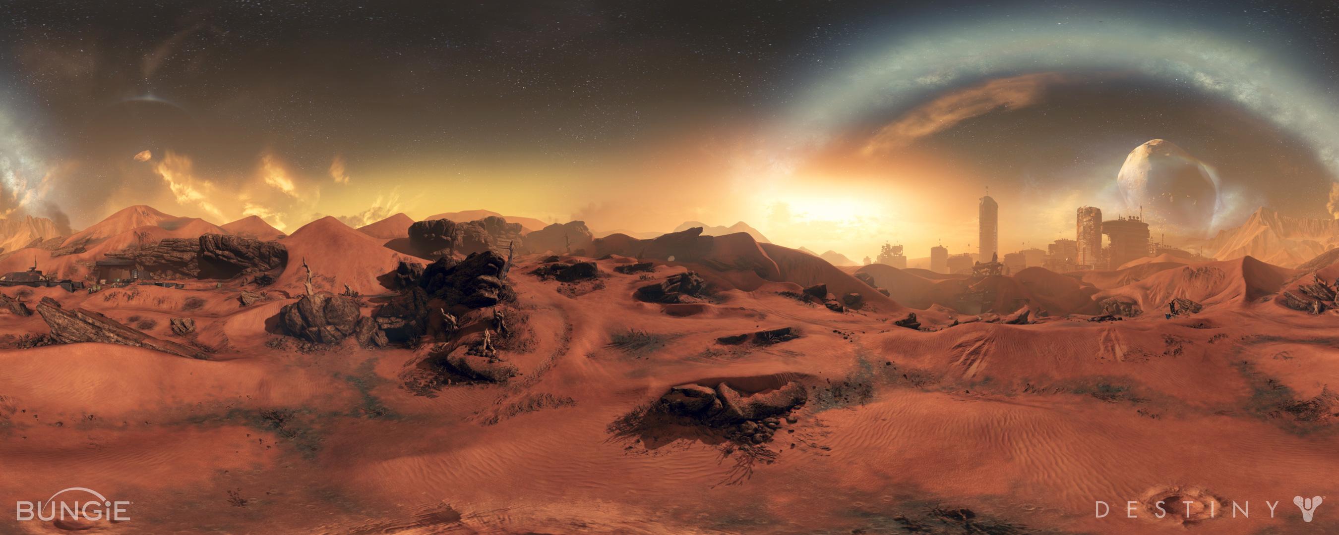 Paesaggio su Marte