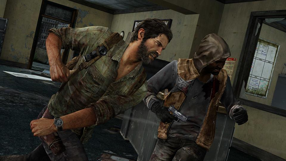 The Last of Us joel-punches-hunter