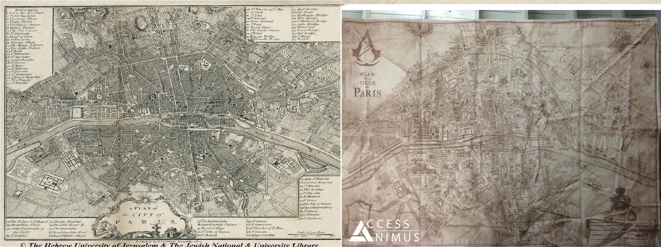 AC Unity mappa parigi a confronto