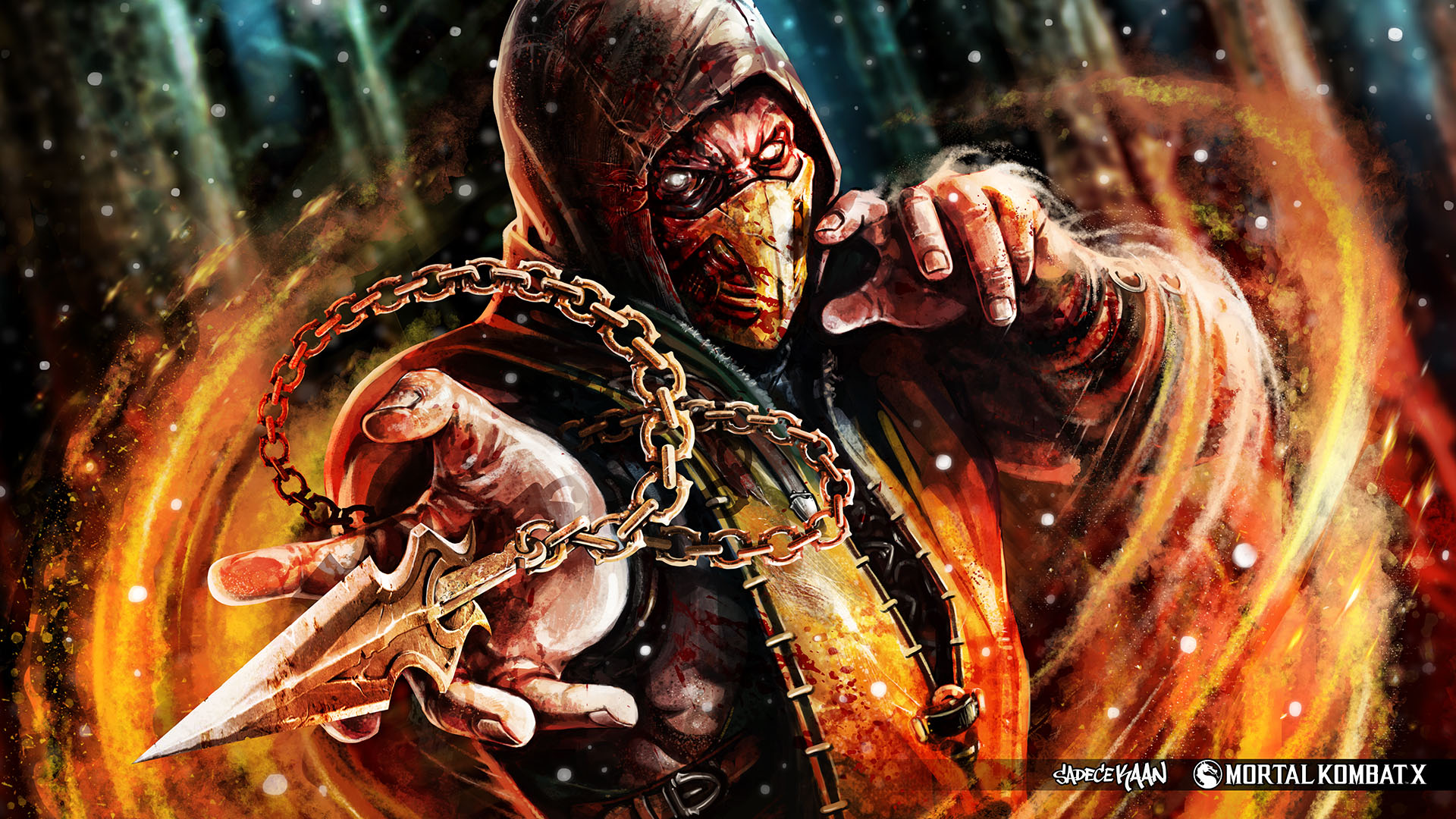 Mortal Kombat X scorpion artwork