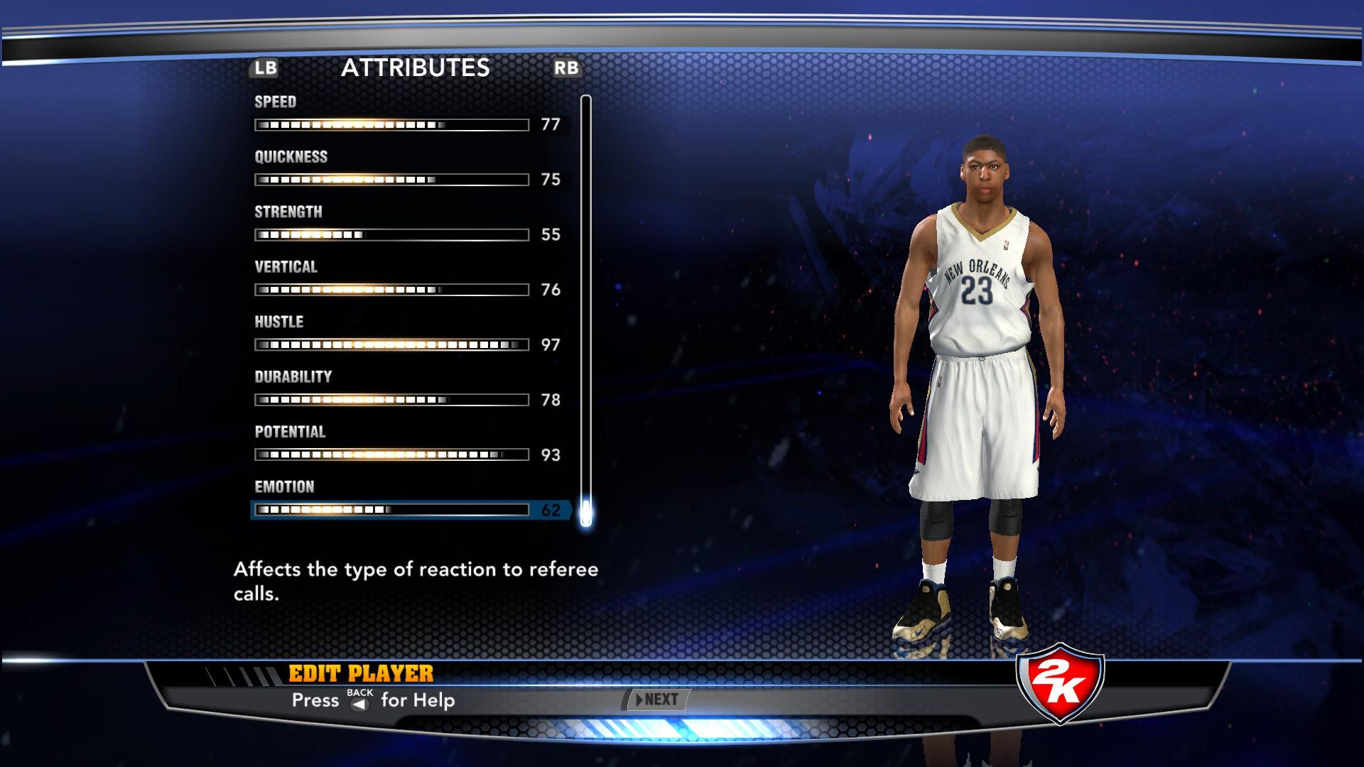 NBA 2k14 crazione giocatore
