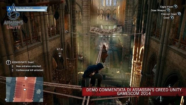 assassin's creed unity demo commentata gamescom 2014