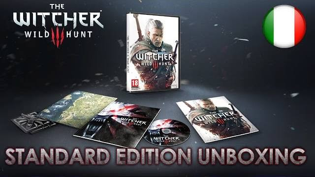 the witcher 3 standard edition video unboxing
