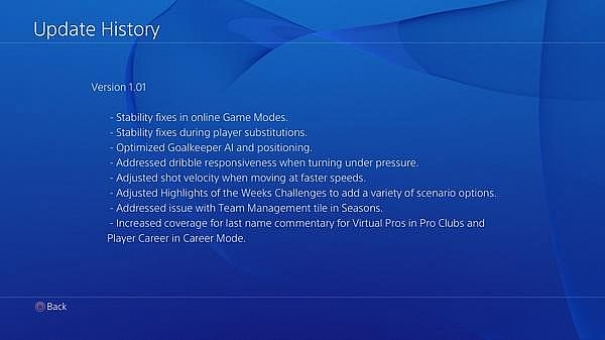 Fifa 15 demo patch ps4