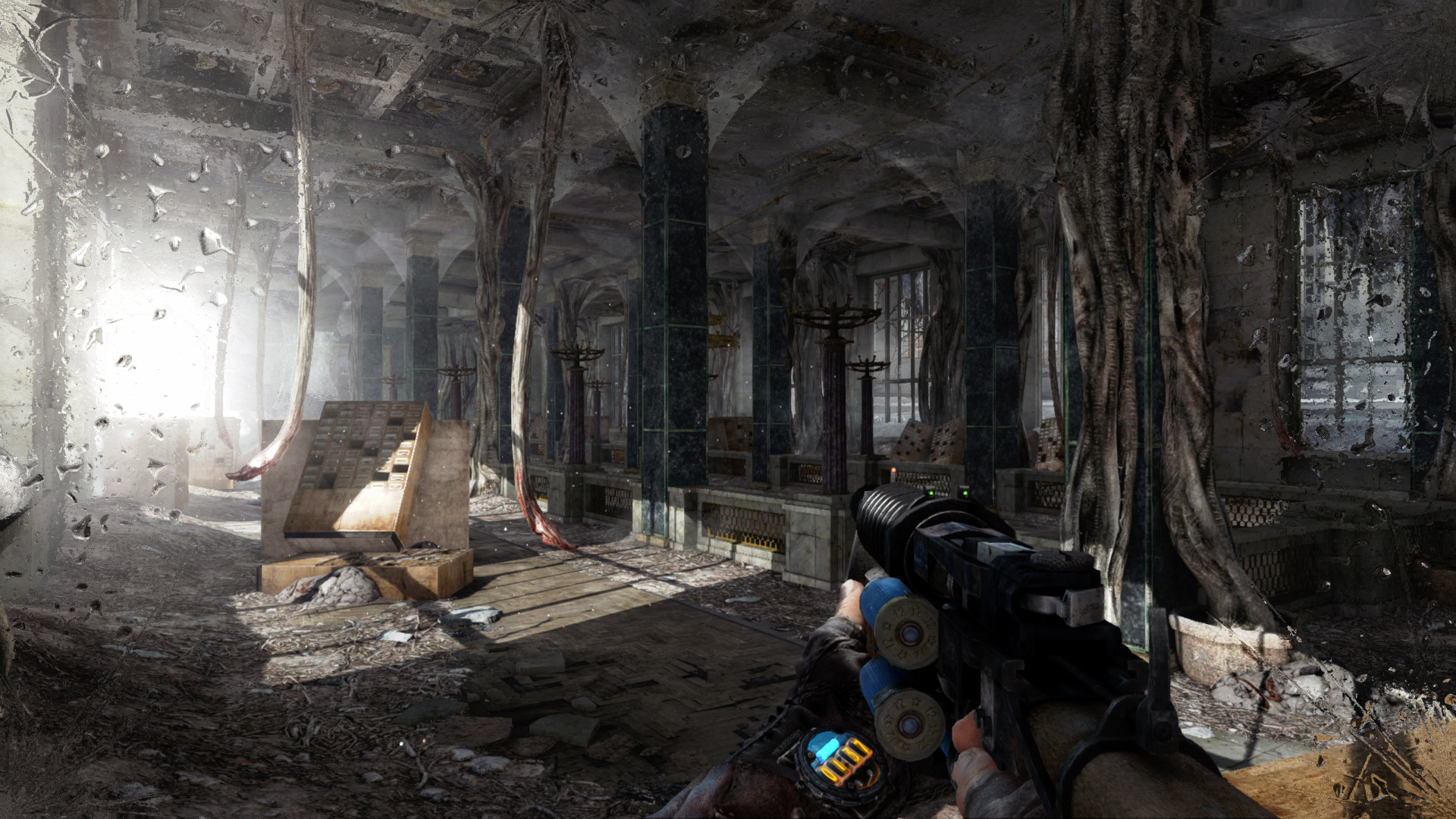 Uno scorcio di Metro 2033 Redux, come vedete la grafica è stata decisamente potenziata: luci, texture, dettagli