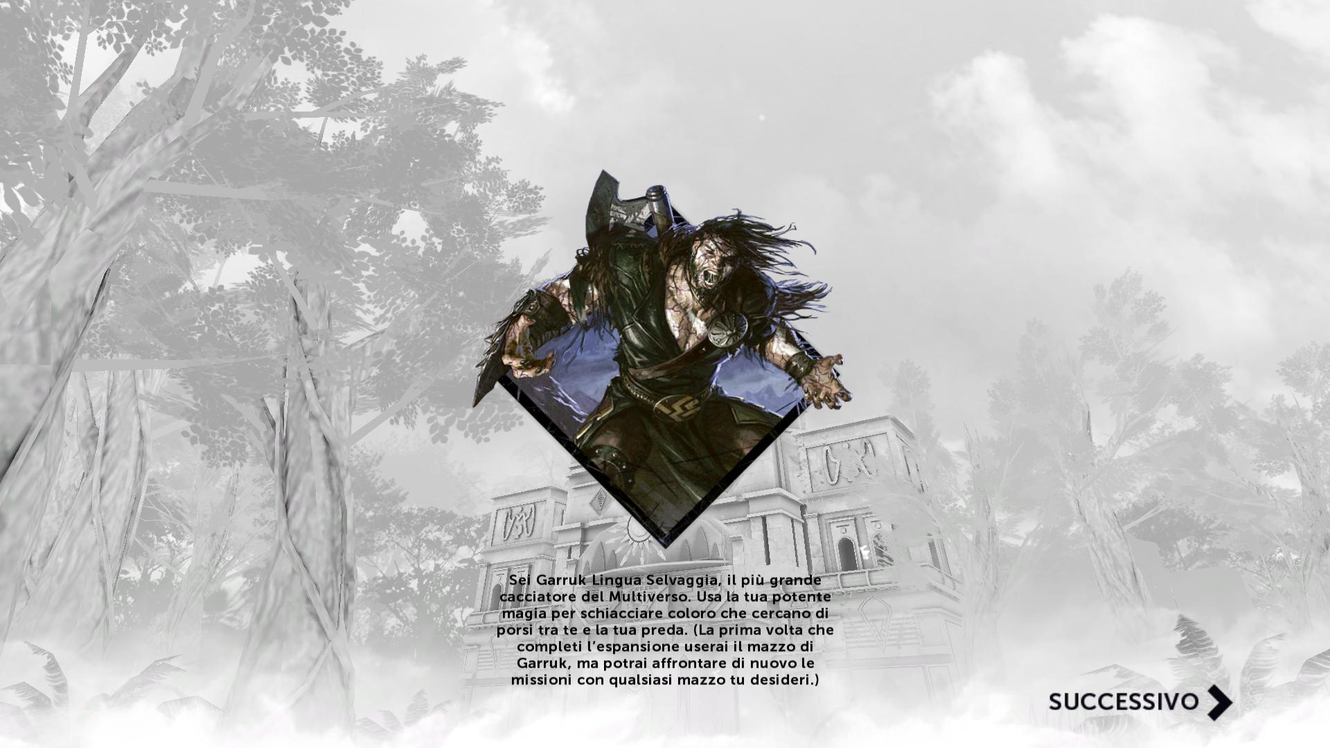 5. Avatar transition Screen into Garruk