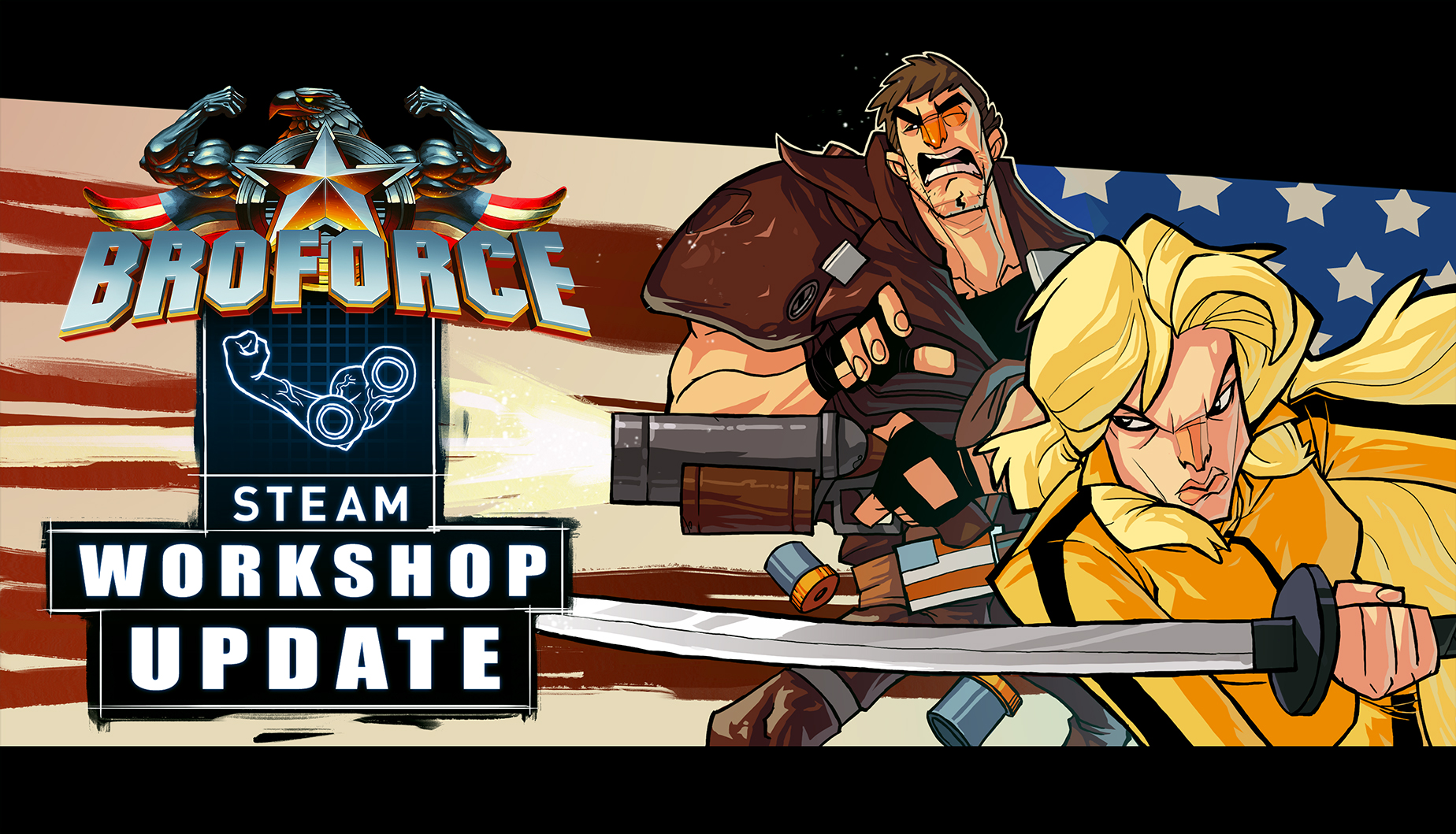 Broforce - October Update Key Art