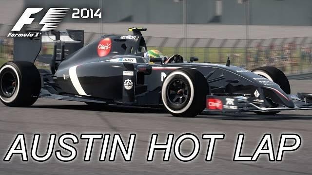 F1 2014 austin hot lap