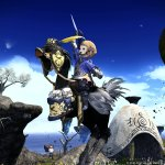 Final Fantasy XIV-flying-black-chocobo-4
