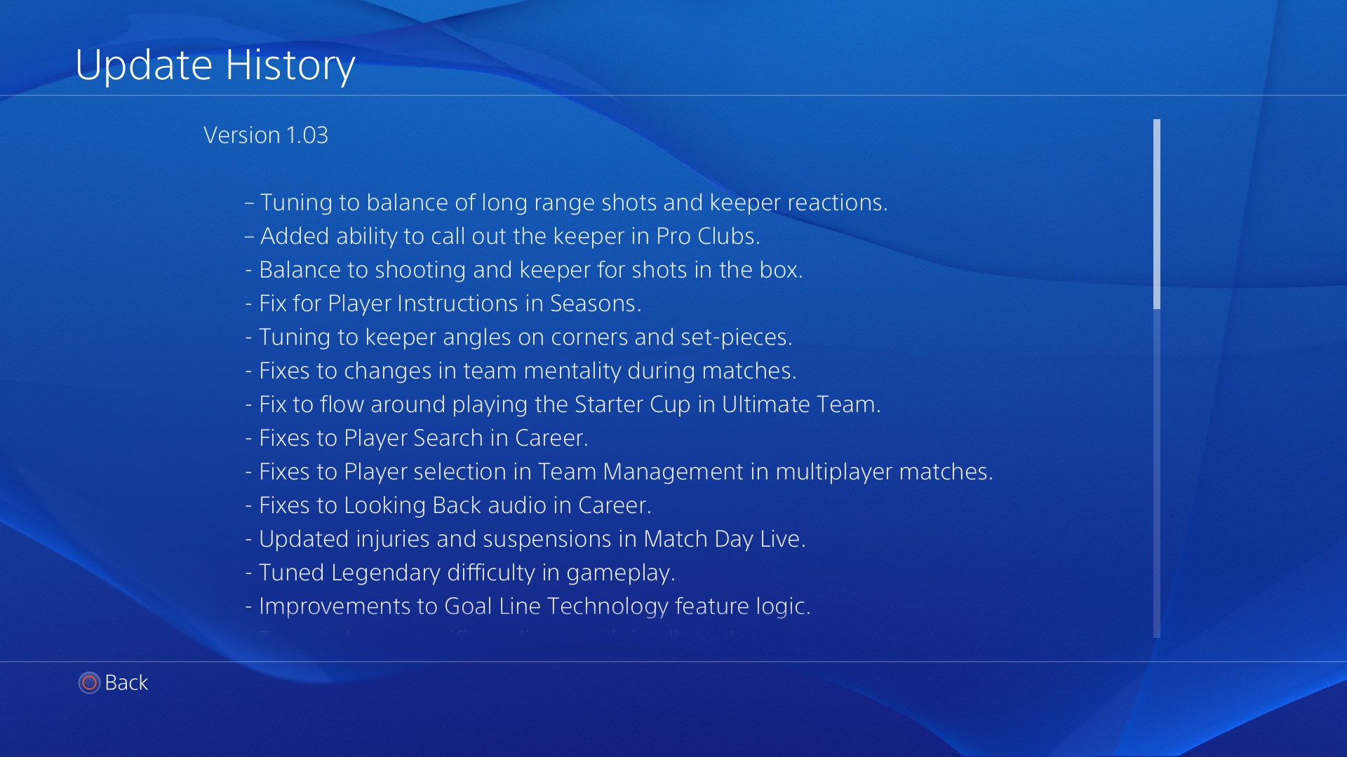 fifa 14 patch 1.03 ps4