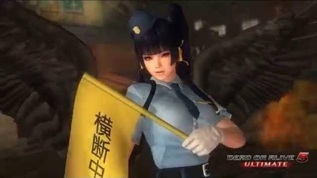 Dead or Alive 5 Ultimate police costume pv trailer