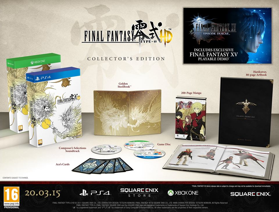Final Fantasy type-0 had collector's edition
