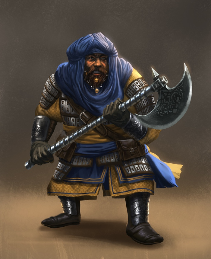 Seven Dragon Saga atwrork dwarf knight