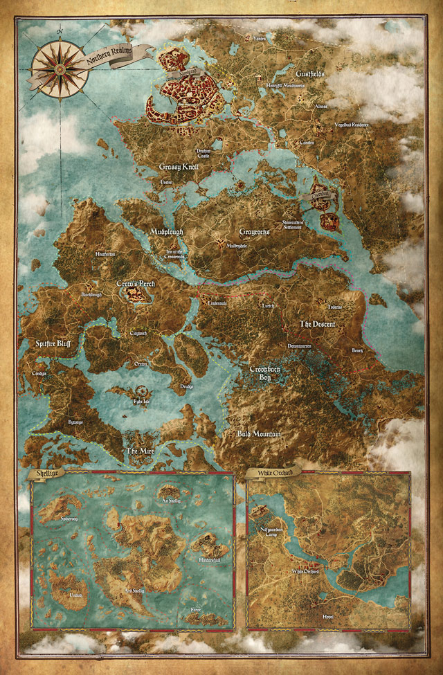 the witcher 3 wild hunt mappa