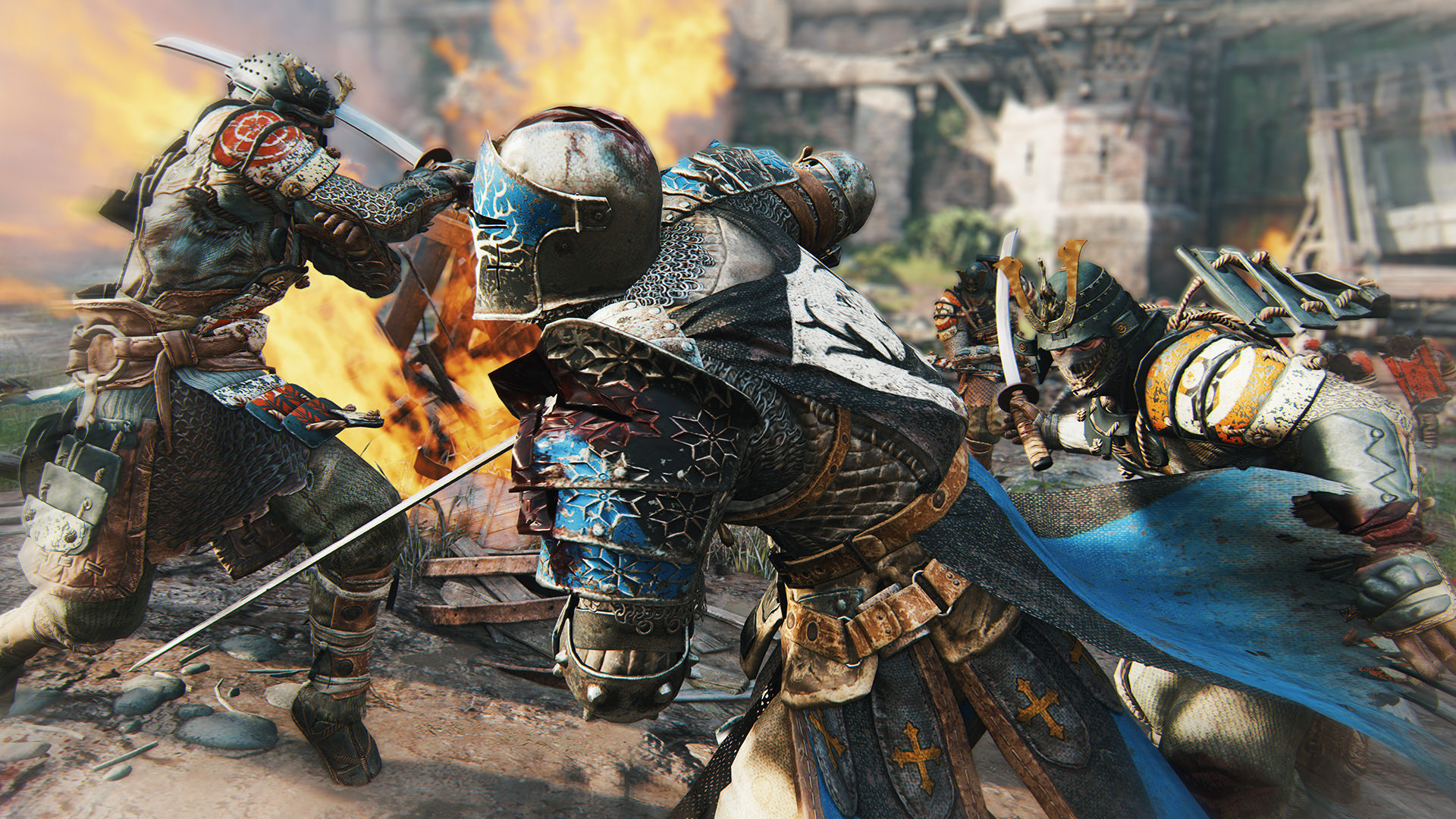 For_Honor_Screen_Harrowgate_SamuraisAttackWarden_E3_150615_4pmPST_1434397100