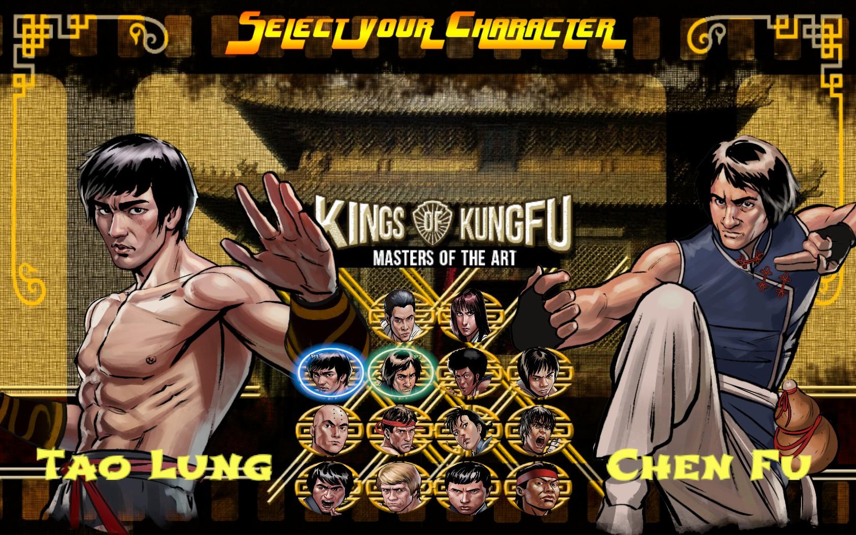 Kings of Kung Fu scelta personaggi