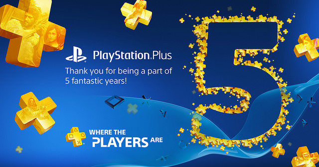 playstation plus 5 anniversario