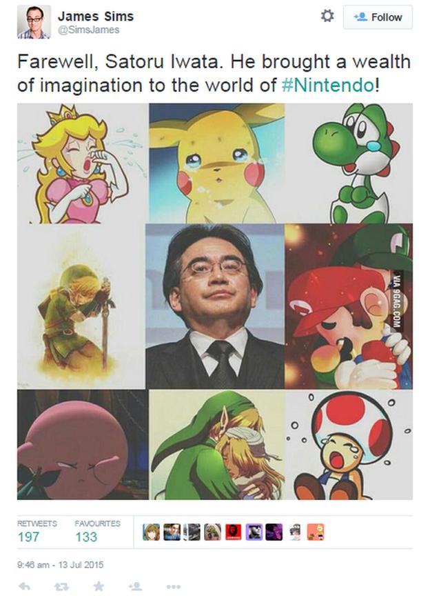 satoru iwata omaggio captureiwatatwitter