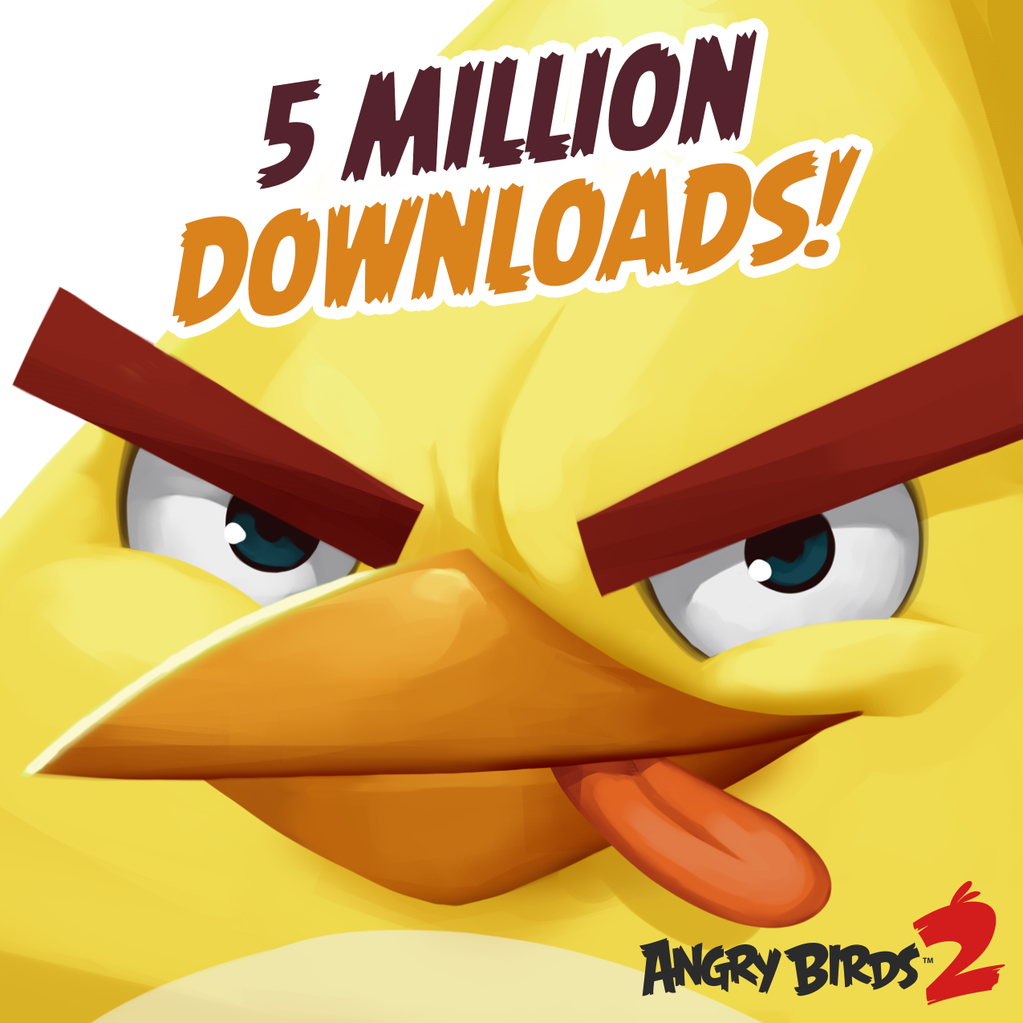 Angry Birds 2 5 milioni di download