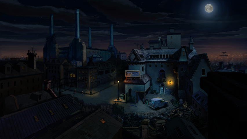Broken Sword 5 - the Serpent's Curse - Battersea at Night