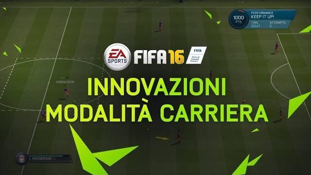 Fifa 16 innovazioni della carriera